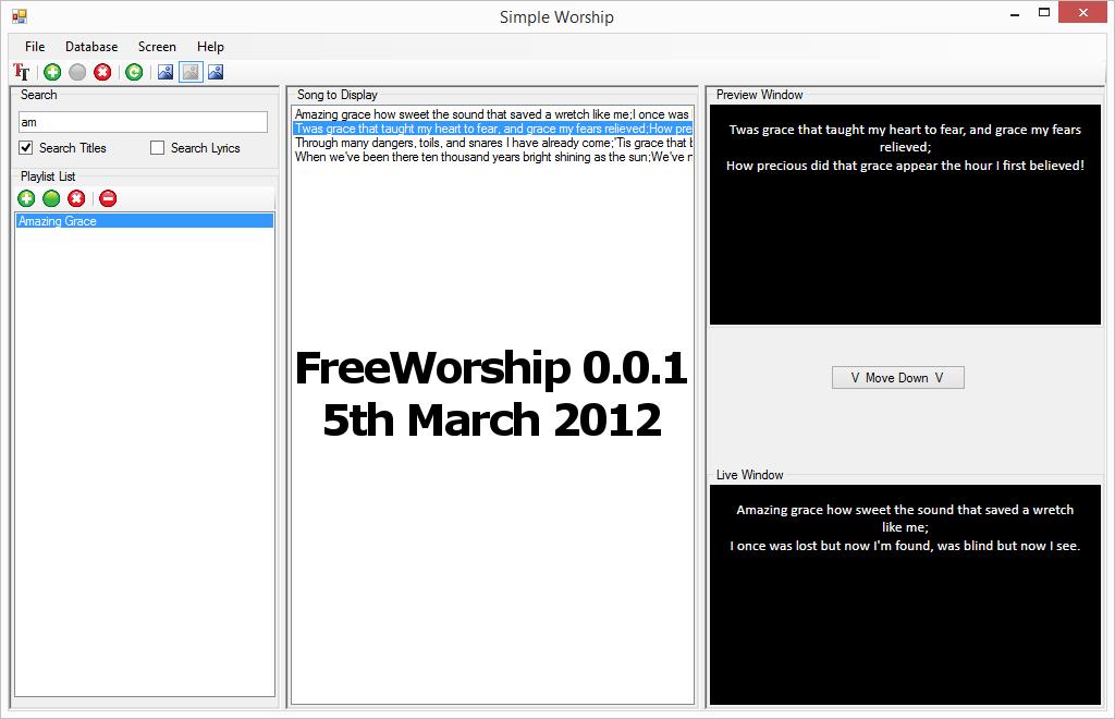 FreeWorship 0.0.1