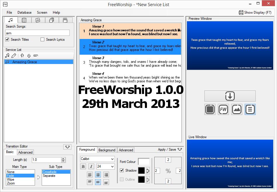 FreeWorship 1.0.0