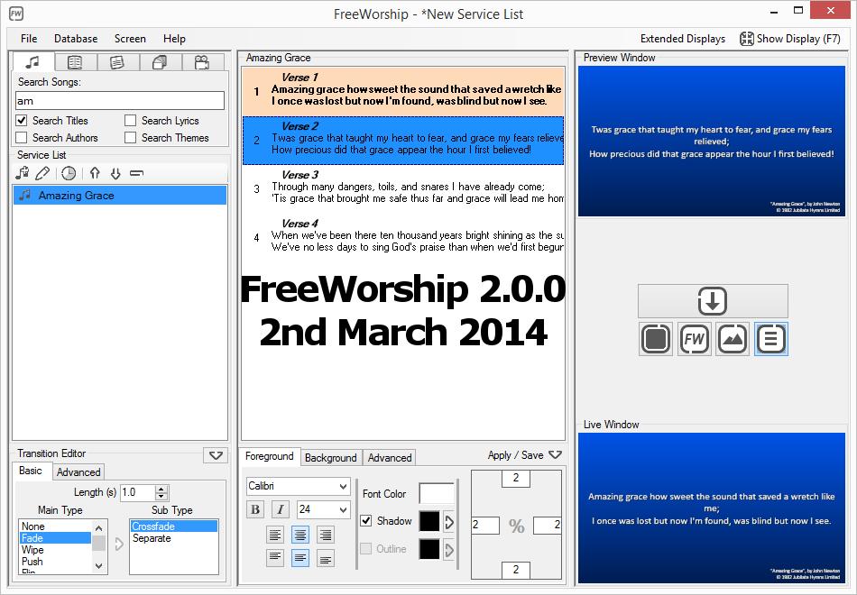 FreeWorship 2.0.0